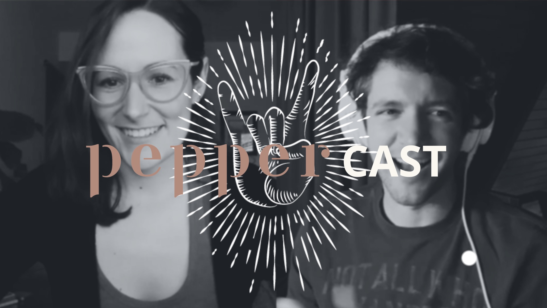 PepperCast episode 9 cover photo with Stacey Krolow and Sam Hurd discussing the 2020 state of the wedding photography industry