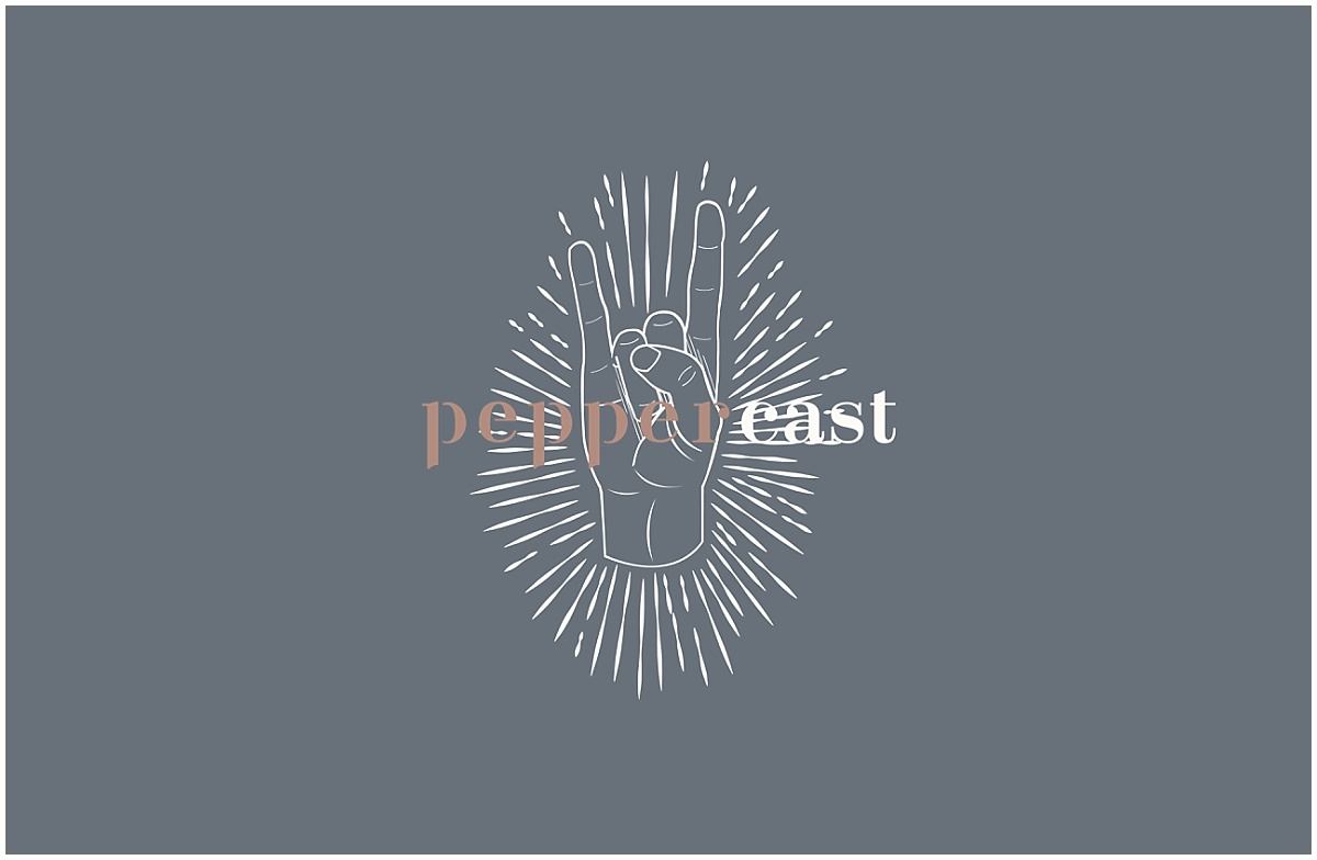 Logo for the PepperCast: a podcast for photographers and creative entrepreneurs.